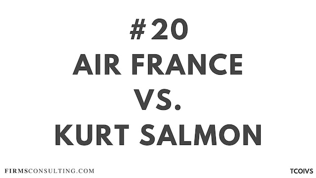 20 TCO IV Sizan, Air France vs Kurt Salmon