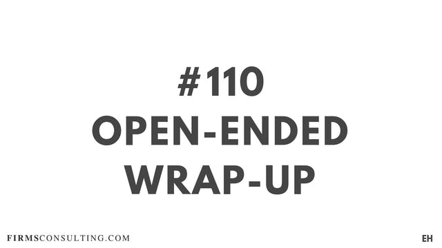 110 19 EH D open ended wrap up