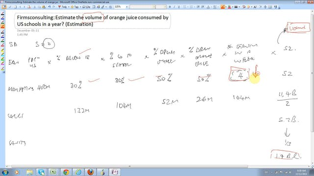 22 Estimation Estimate the volume of ...