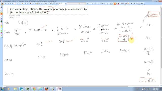 22 Estimation Estimate the volume of ...