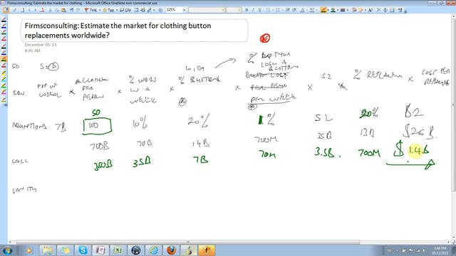 36 Estimation Estimate the market for...