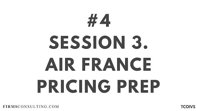 4 TCOIV Sizan. Session 3 Air France pricing preparation
