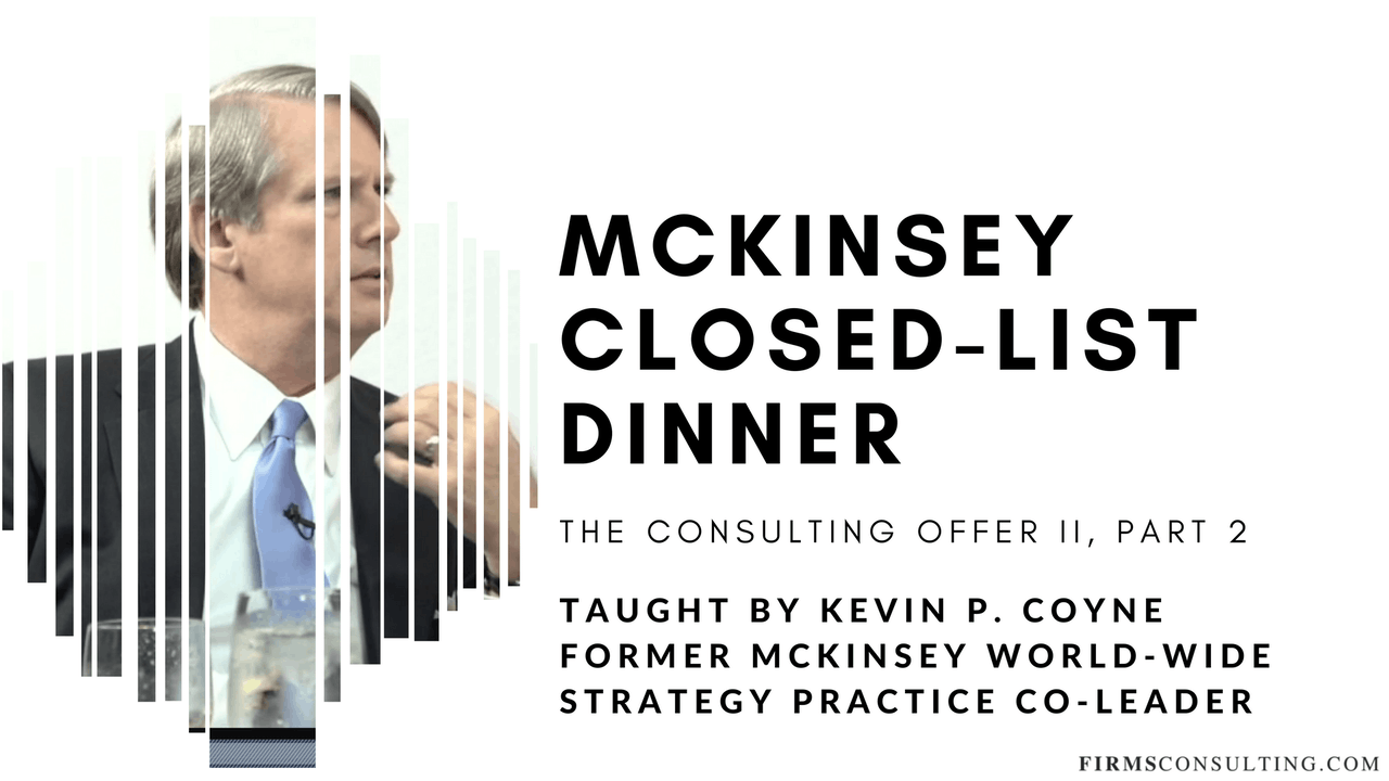 TCO 2: 2 McKinsey Closed-List Dinner