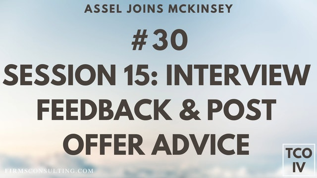 CSCI Assels Feedback & Lessons after her McKinsey offer
