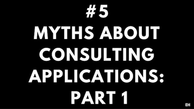 5 3.1 EH Myths about consulting applications. Part 1