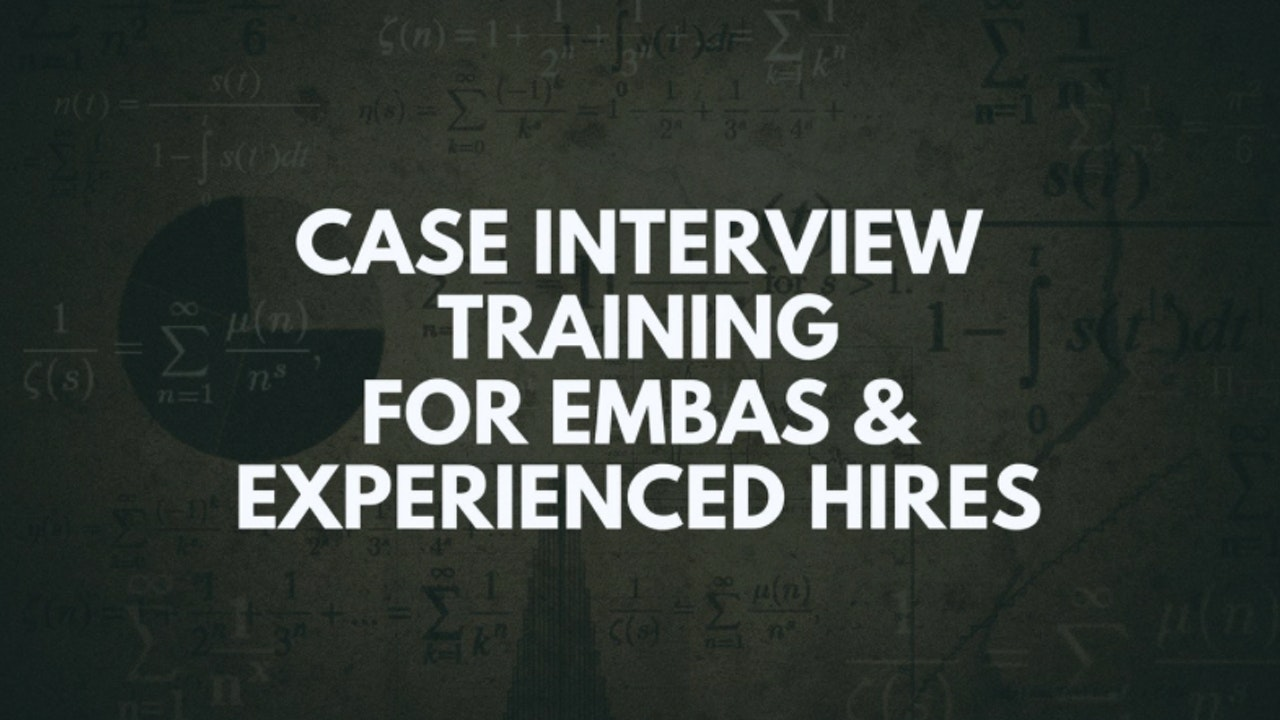 8 Experienced Hires: Case Types / Key Business Concepts