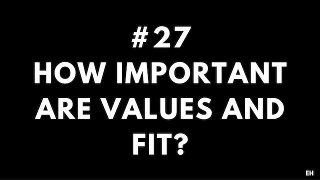 27 9.2 EH How important are values an...