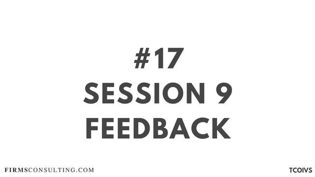17 TCOIV Sizan. Session 9 Feedback
