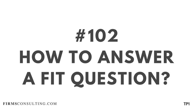 102 17.4 EH How to answer a FIT question