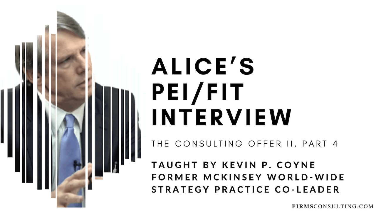 TCO 2: 4 Alice's PEI/FIT Interview