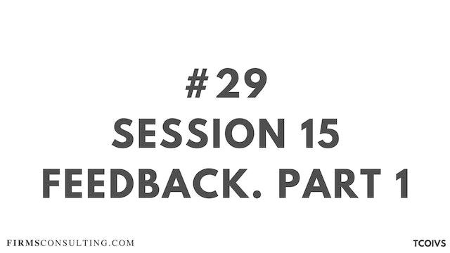 29 TCOIV Sizan. Session 15 feedback. Part 1