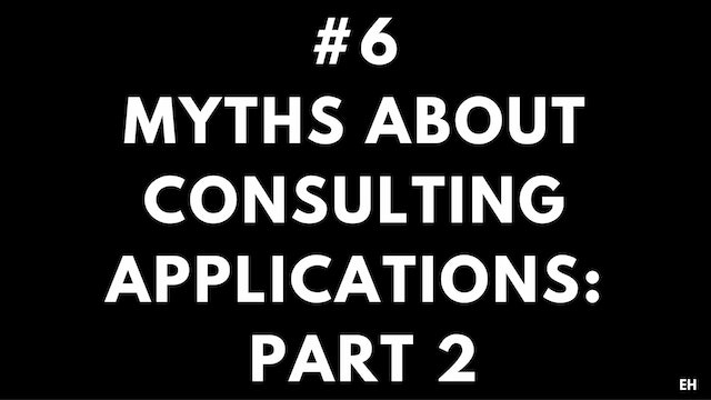6 3.2 EH Myths about consulting applications. Part 2