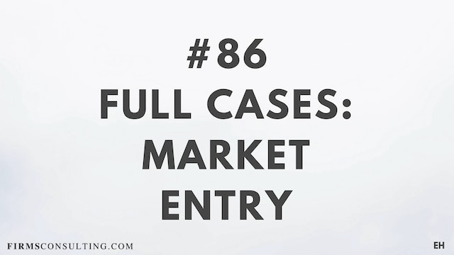 86 15 3 3 2 EH Market entry cases. Part 1