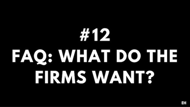 12 4.4 EH What to the firms want