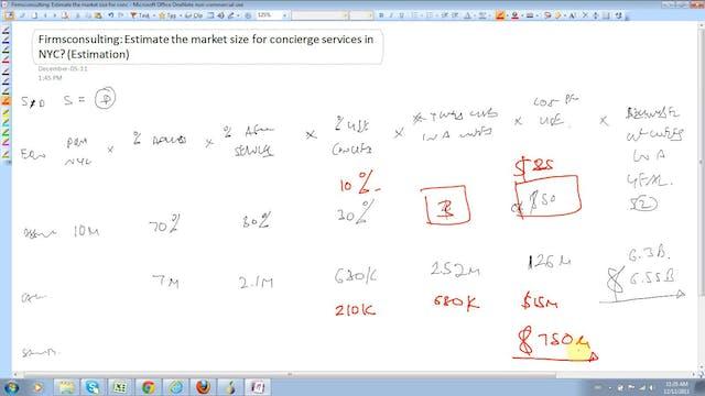 9 Estimation Estimate the market size...