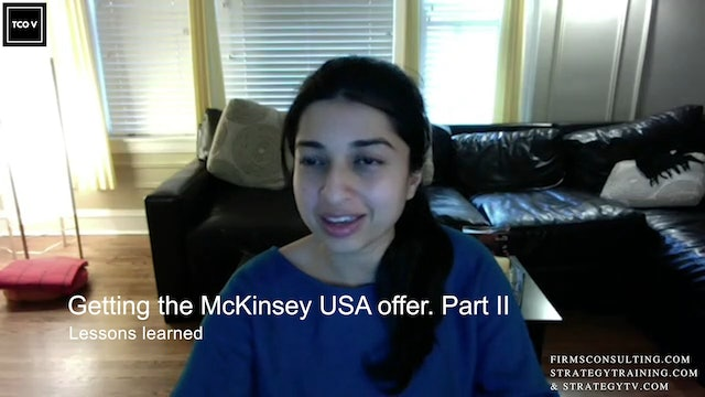 CSCI Ritika Mohan. Getting the McKinsey USA offer. Part II. Lessons learned