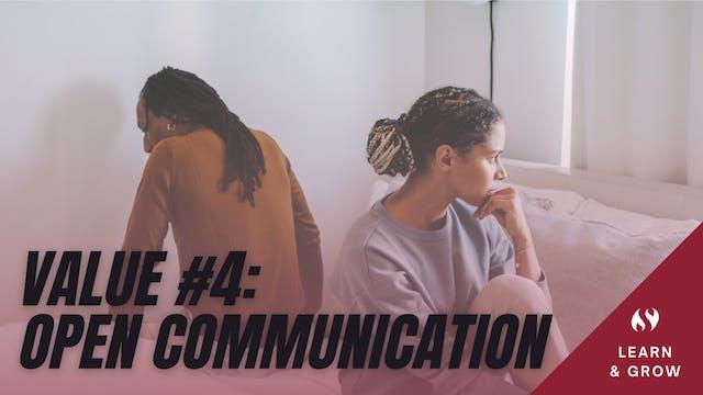 Value #4 Open Communication