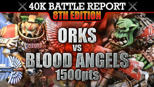 Orks vs Secret Army Warhammer 40K Battle Report THEY ARE HERE! 8th