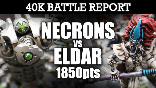 Necrons vs Eldar 40K Battle Report FIGHT FOR SUPREMACY! 7th Edition 1850pts