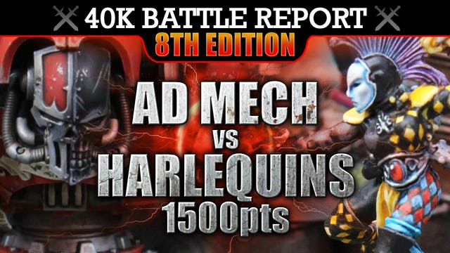 Harlequins vs Ad Mech Warhammer 40K Battle Report ACT ONE SCENE ONE! 8th Edition 1500pts