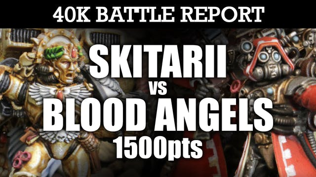 Skitarii vs Blood Angels40K Battle Report DANTE'S INFERNO! 7th Ed 1850pts