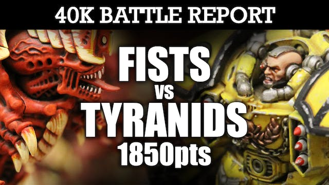 Imperial Fists vs Tyranids 40K Battle Report AIR SUPERIORITY! 7th Ed 1850pts