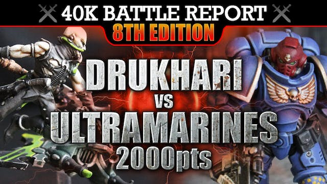 Drukhari vs Ultramarines Warhammer 40K Battle Report STRIKE HARD, STRIKE FAST! 8th Edition 2000pts