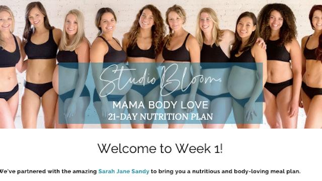 Mama Body Love Challenge Nutrition Week 1
