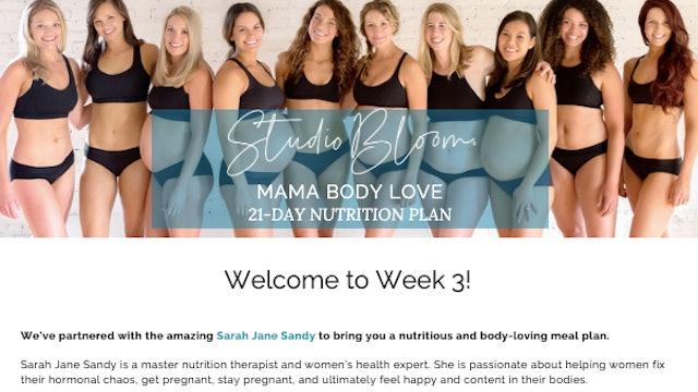 Mama Body Love Challenge Nutrition Week 3