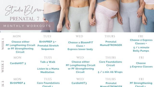 Prenatal Workout Calendar 7