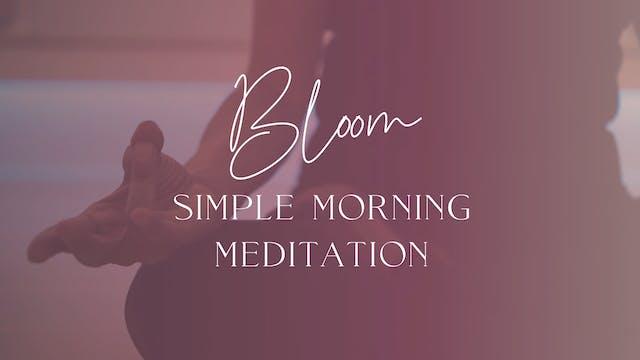 Simple Morning Meditation