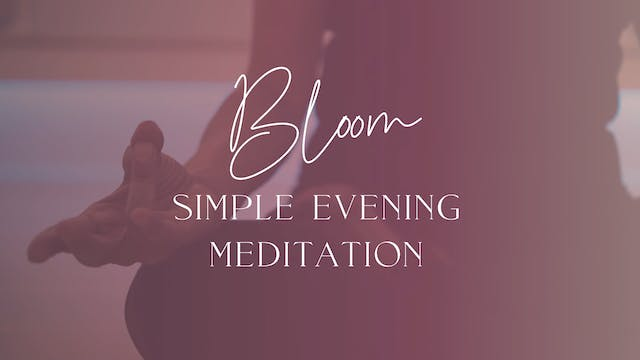 Simple Evening Meditation