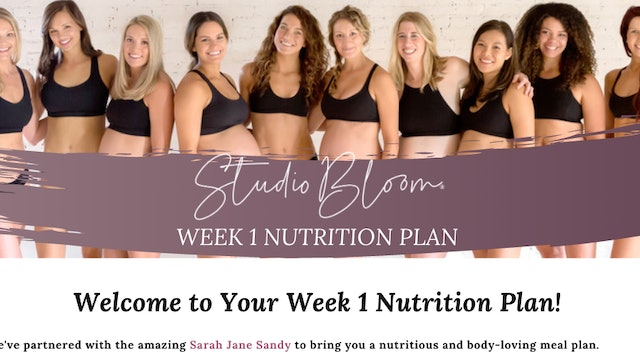 Mama Body Love Challenge Nutrition Week 1