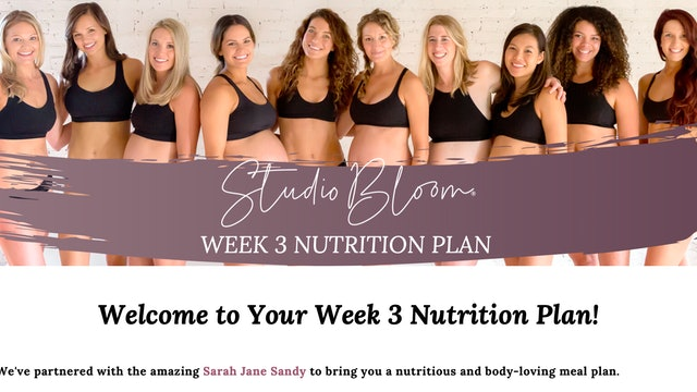 Mama Body Love Challenge Nutrition Week 3