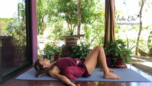 Restorative yoga w/ Veda Ela counterbalance stressful times | 25 minutes