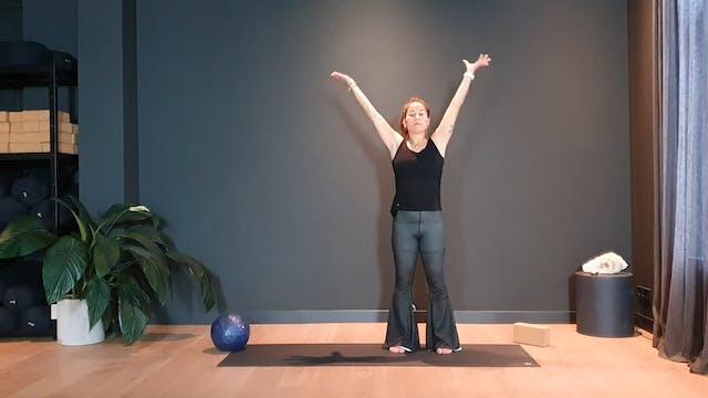 Pilates w/ Rachel powerhouse training...