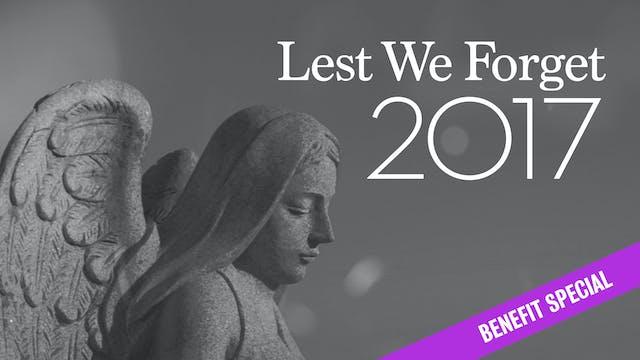 Lest We Forget 2017