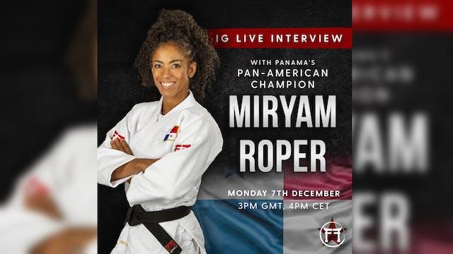 IG Live With Miryam Roper