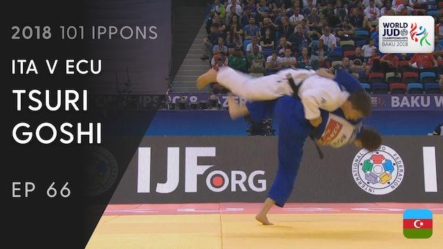 101: Tsuri goshi - ITA v ECU -60kg