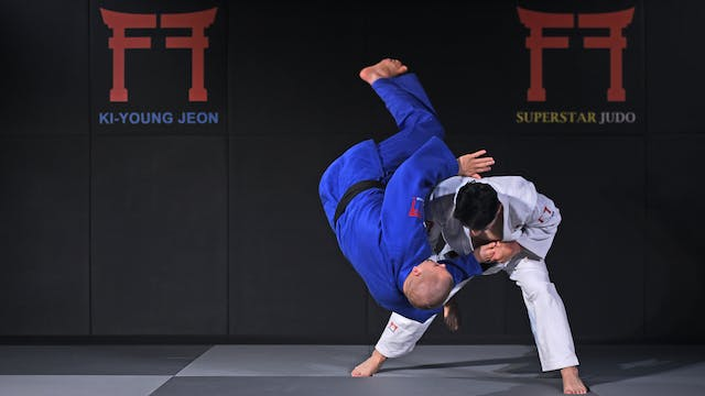 Tai otoshi from hand grip | Korean Judo
