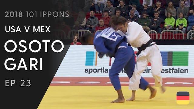 101: Osoto gari - USA v MEX -63kg