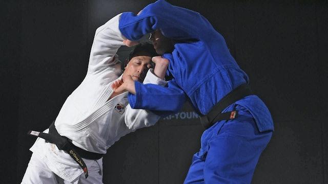 Creating space for Morote seoi nage 2   Korean Judo