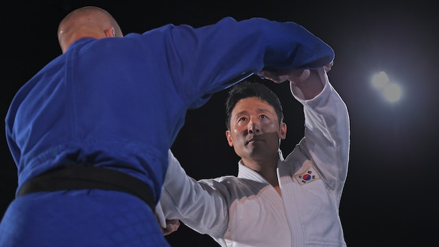 Circling to stop arm over the top | Korean Judo