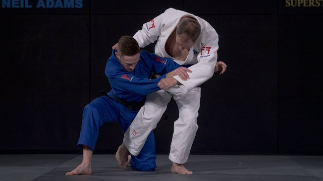 Nagayama's Uchi mata from failed atta...