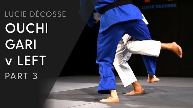 Lower Body & Execution | Ouchi gari v Left | Lucie Décosse