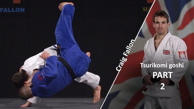 Tsurikomi goshi execution | Craig Fallon