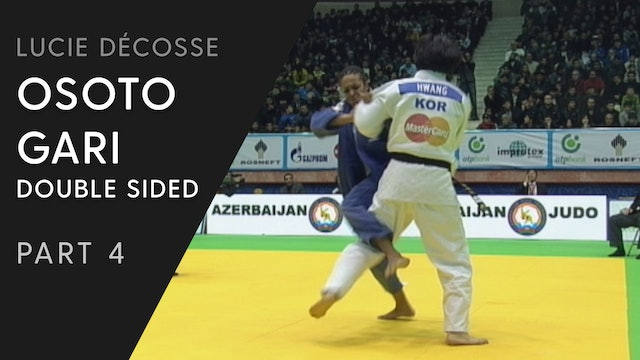 Competitive variations | Double sided Osoto gari | Lucie Décosse