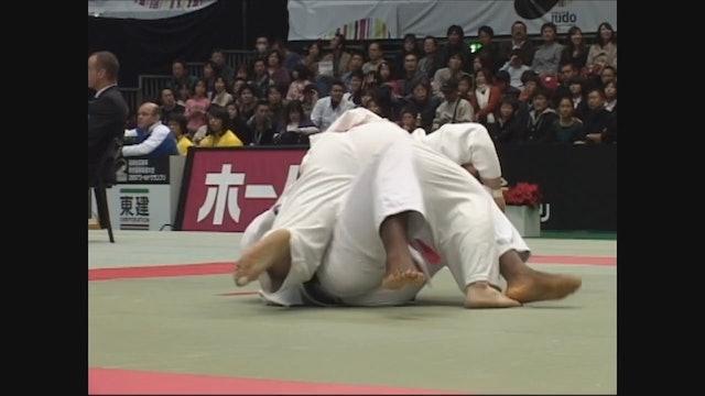 Riner Thrown For Waza-ari! | +100kg FRA v JPN