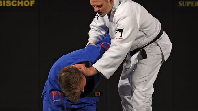 Juji gatame - Grips, arm catch and he...