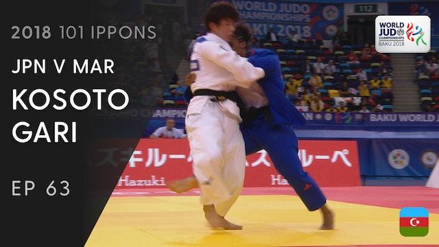 101: Kosoto gari - JPN v MAR -70kg